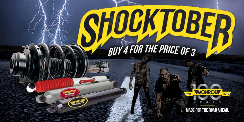 Monroe Shocktober promotion at Burnaby Auto Parts